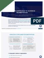 Amazon approach to segmentation