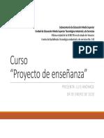 Curso Proyecto de enseñanza 09.01.2020