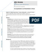 Re-evaluation of Re-hospitalization and Rehabilitation in Renal