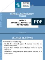 Lecture 3 - Financial markets and institutions