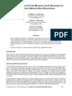 P SAIS2004 SME e Business Benefits