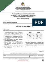 Fsadu - 2010 - Prova de Tec. em  Radiologia  - Rio Achão