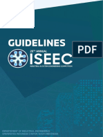 20th Annual ISEEC Main Stage Guidelines