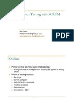 Scrum in Testing