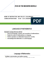 MATHEMATICS LANGUAGE AND SYMBOLS - LEC 2