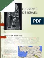 INICIO DE ISRAEL