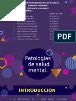 Patologias de Salud Mental.