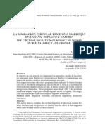 La migración circular femenina marroquí en huelva. Impacto y cambio