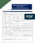 FORMULARIO REGISTRAL N° 1 27157 - SUNARP