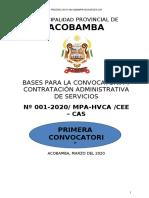 Primera Convocatoria Munic Prov. Acobamba