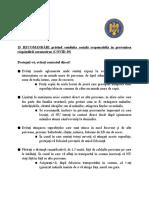 Recomandările Guvernului României pentru prevenirea răspândirii COVID-19