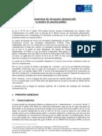 Communication Documents Publics (MP)