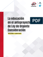 La educacion en el proyecto de Ley de Urgente Consideración (LUC)