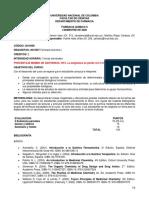 Programa Farmacia Química II 2020-1