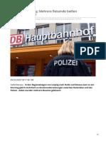 tag24.de-Im Zug aus Leipzig Mehrere Reisende beißen Bundespolizisten