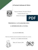 Soto, Ana Laura - Tesis - Pertinencia y actualidad del mito_ la mitodología de la cultura.pdf