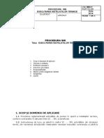 Executarea instalatiilor termice