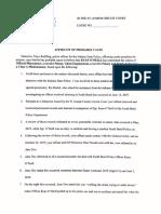 Ryan O'Neill Criminal Affidavit