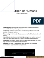 1 - The Origin of Humans