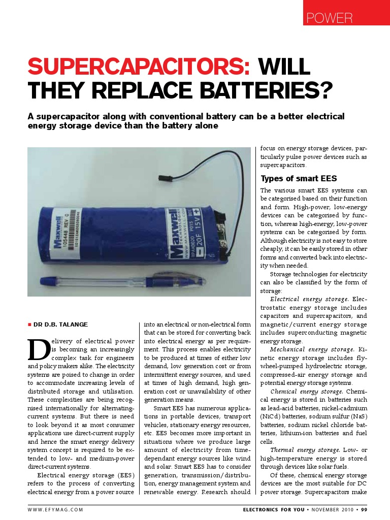Supercapacitors | Energy Storage | Nature