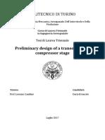 Preliminary Design of a Transonic Axial Compressor Stage Dario Brancato