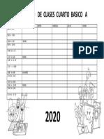 HORAS  DE CLASES 2020