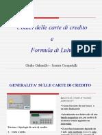 Codici delle carte di credito
