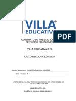 CONTRATO DE PRESTACIÓN ESCUELA