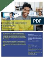 Information Technology Management Certificate
