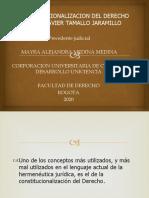 CONSTITUCIONALIZACION DEL DERECHO SEGÚN JAVIER TAMALLO JARAMILLO