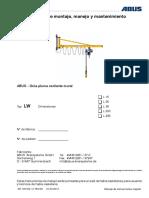 AN100126.003  -  Instrucciones de montaje, manejo y mantenimiento para ABUS-Grúa pluma oscilante mural LW