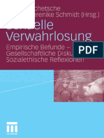 Michael Schetsche, Renate-Berenike Schmidt - Sexuelle Verwahrlosung_ Empirische Befunde - Gesellschaftliche Diskurse - Sozialethische Reflexionen