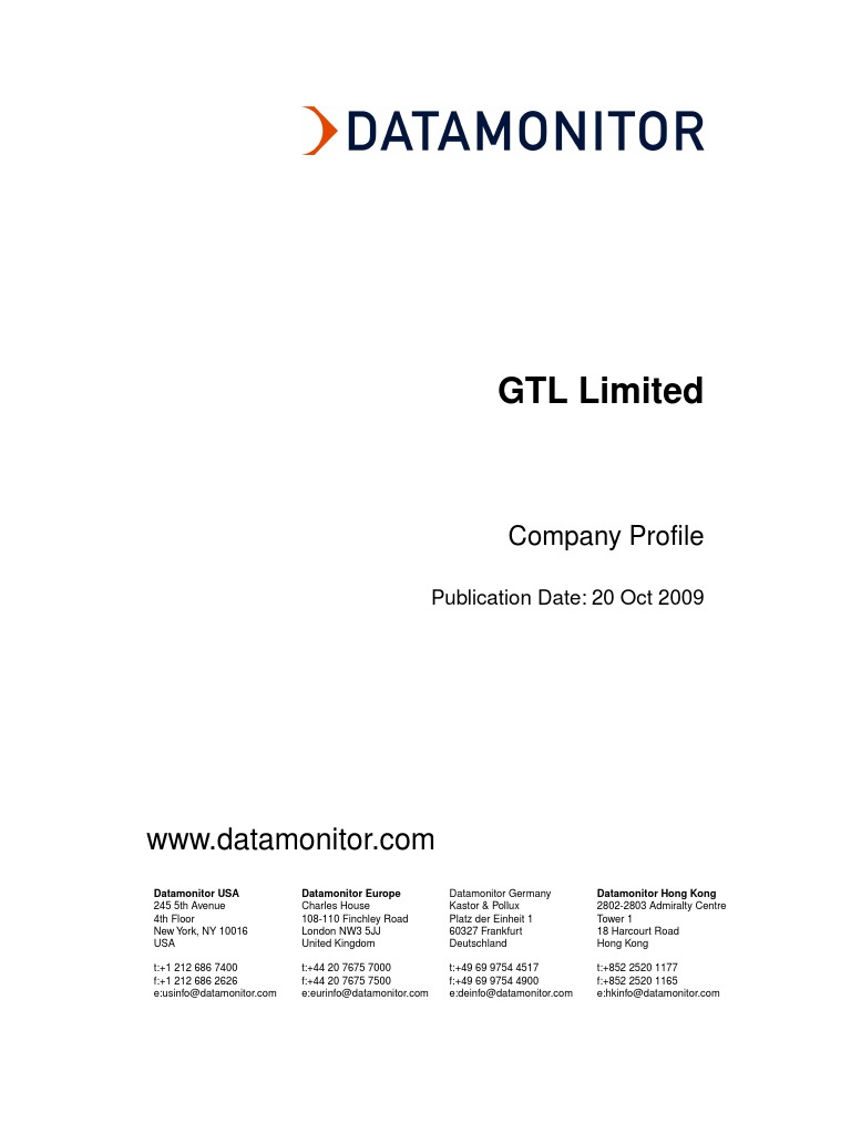 GTL Limited | Board Of Directors | Ericsson