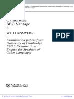 Cambridge BEC Vantage
