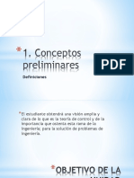 Control analógico de conceptos a modelado