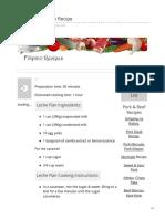 Filipino Leche Flan Recipe