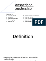 Transactional Leadership complete