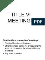 TITLE VI meetings
