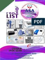 PRICE LIST FOR 2020 (FEBRUARI) ASA LAB