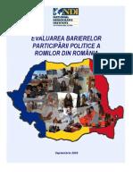 Evaluarea Barierelor Particparii Politice a Romilor Din Romania