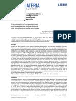 Caracterização de Compósitos Obtidos a Partir de Polímero Biodegradável e casca de Arroz Utilizando Duas Técnicas de Processamento