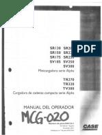 MANUAL DE OPERACIÓN Y MANTENIMIENTO MINICARGADOR CASE SR220