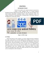 BPCL Training Report