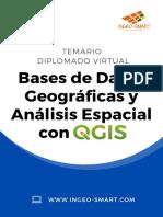 Temario DIPLOMADO VIRTUAL Bases de Datos Geográficas y Análisis Espacial con QGIS