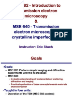 Transmission Electron Microscopy Skills:Introduction to transmission electron microscopy