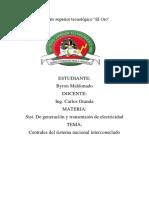 Tarea #1.1 Centrales del sistema nacional interconectado