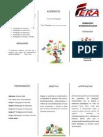 Folder - Seminário Interdisciplinar 2019