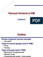 Transmission Electron Microscopy Skills:Vacuum Science in EM Lecture 6