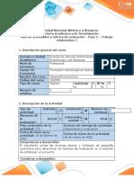 G  E - Guía de  actividades  y rúbrica de evaluación - Fase 2 - Trabajo colaborativo 1