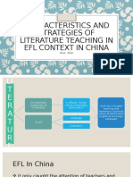 Characteristics and strategies of literature teaching in efl [Autosaved]
